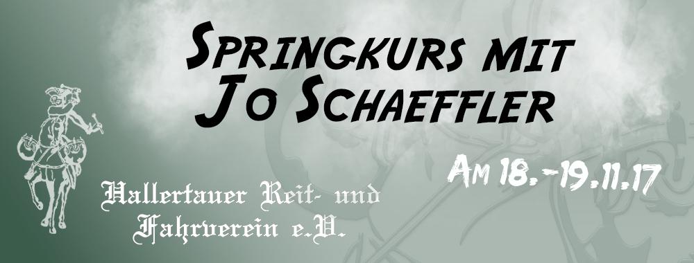 Springkurs mit Jo Schäffler 18. – 19.11.2017