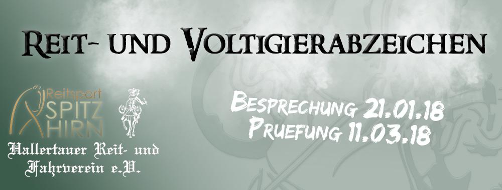 Reit- und Voltigierabzeichen 11.03.2018