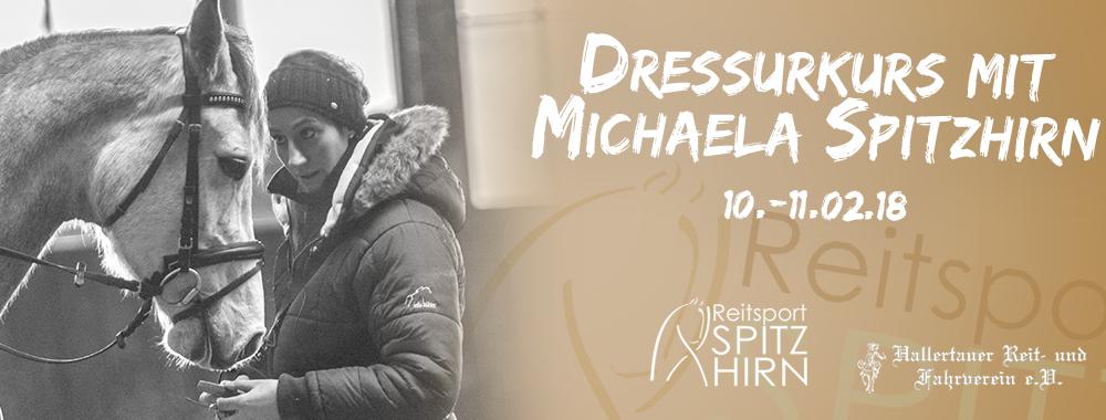 Dressurkurs mit Michaela Spitzhirn 10.-11.02.2018