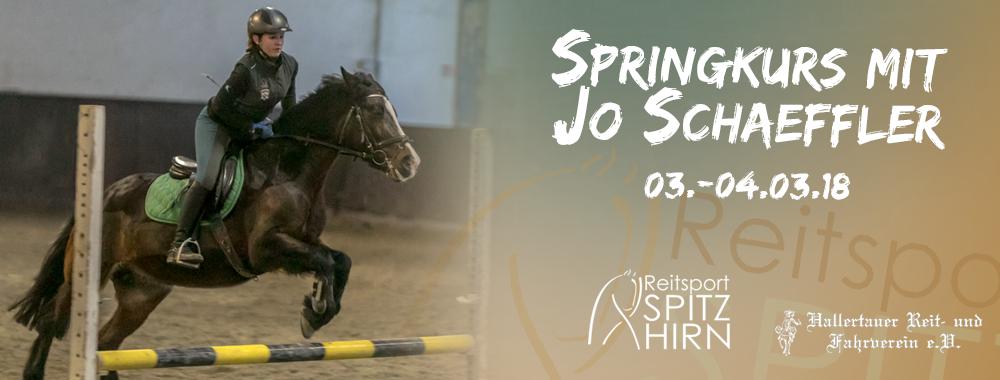 Springkurs mit Jo Schäffler 03. – 04.03.2018