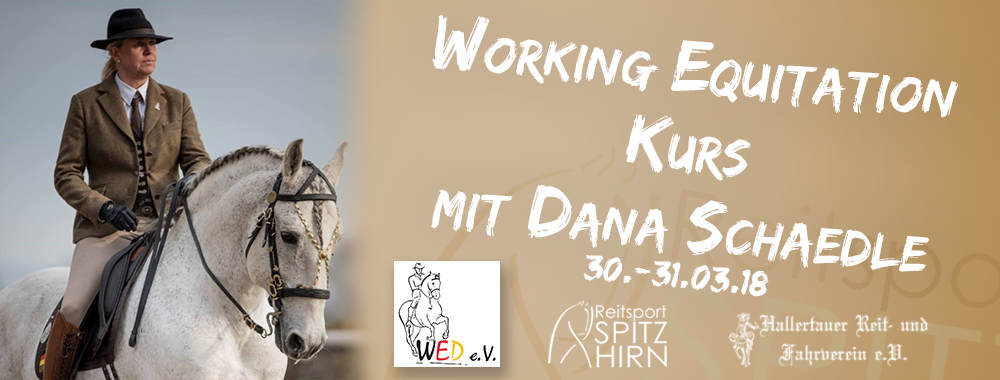 Working Equitation mit Dana Schädle 30.-31.03.2018